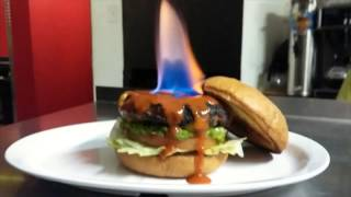 Restaurant Sets Spicy Burger On Fire, Claims It's 'hottest Burger In The World'