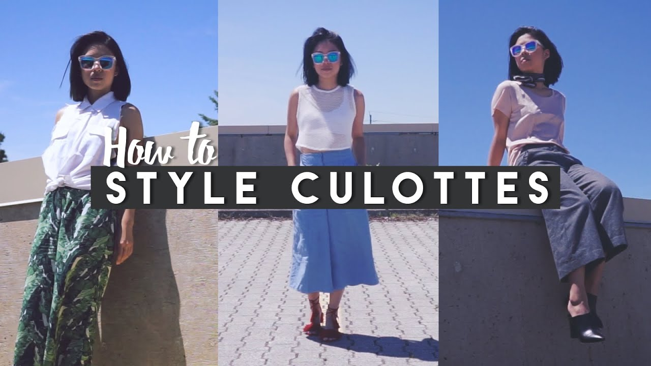 2c36dc36b04 ✂ How I Style Culottes - YouTube
