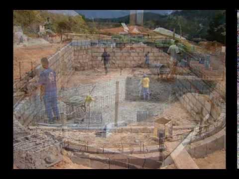Constru o de piscina concreto armado campestre piscinas - Cemento para piscinas ...