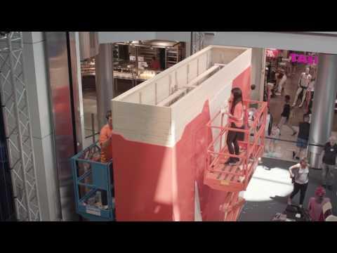 MIGROSMANIA 2017: le plus grand «M» en briques de Suisse