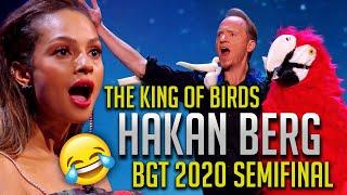 HAKAN BERG | The King of Birds | Britain´s Got Talent | -SEMIFINAL- Comedy \u0026 Magic Show BGT 2020