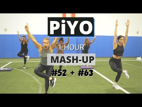 PiYO MashUP #52+ #63 | At HOME Workout | No Equipment Full Body Strength + Tone + Cardio | Yoga Flow