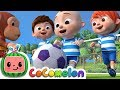 Gambar cover The Soccer Football Song | CoComelon Nursery Rhymes & Kids Songs