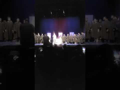 Dr. Tony Wade singing with Lancaster High Choir @The Majestic Theatre