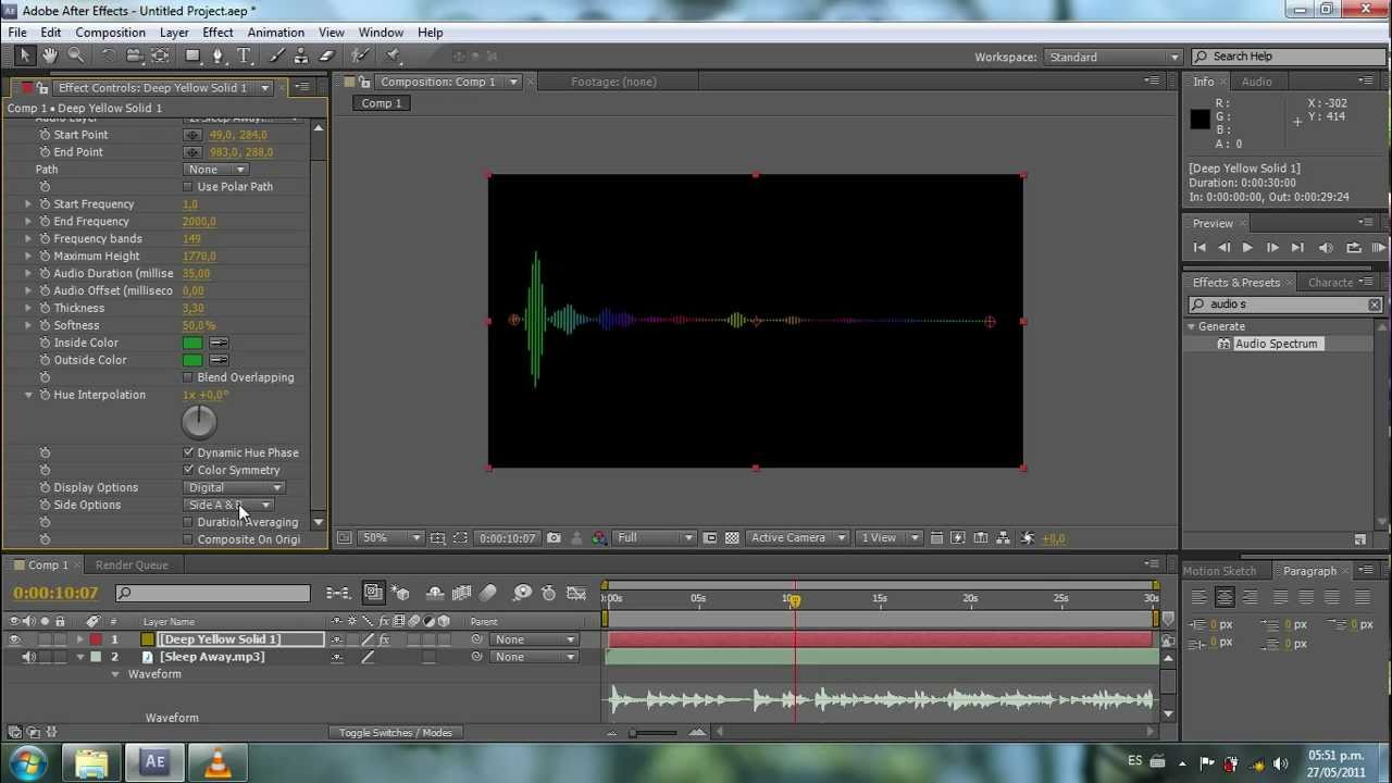 how to get rid of audio in aftere effects