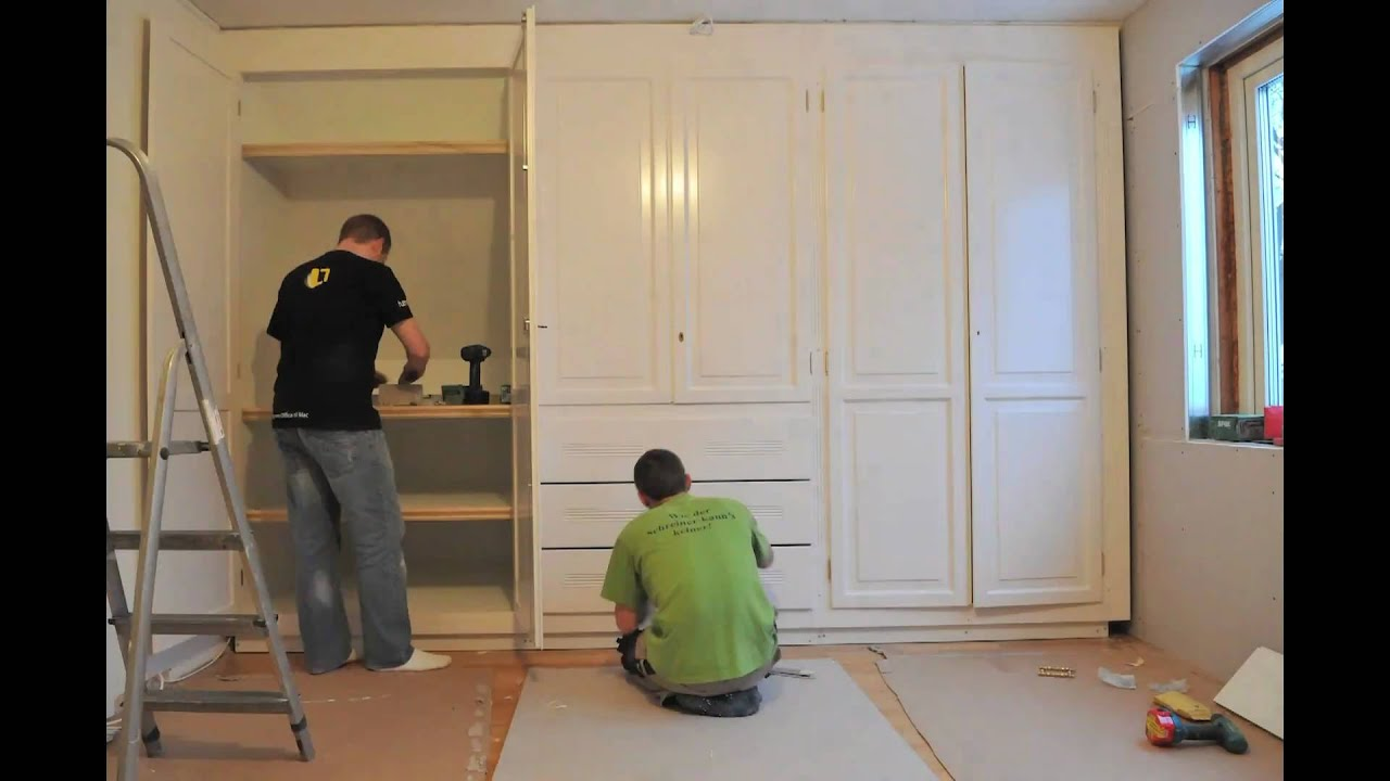 schrank bauen youtube. Black Bedroom Furniture Sets. Home Design Ideas