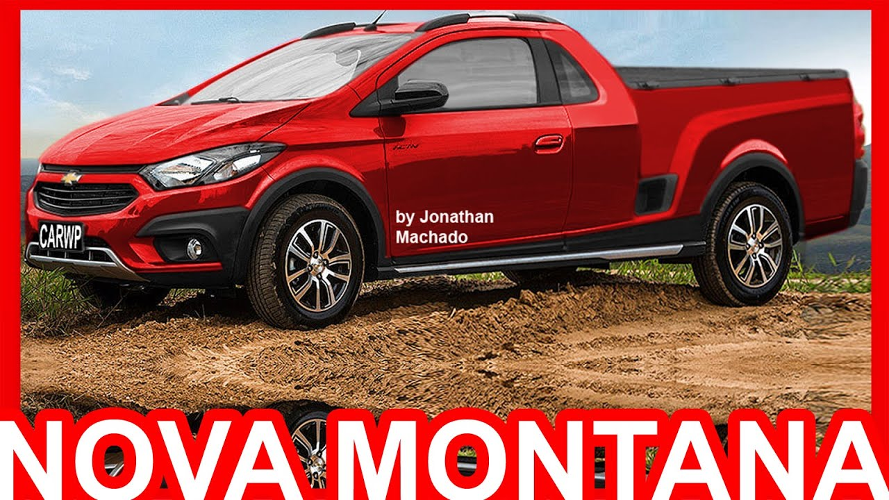 PHOTOSHOP Nova Chevrolet Montana 2018 #Montana - YouTube