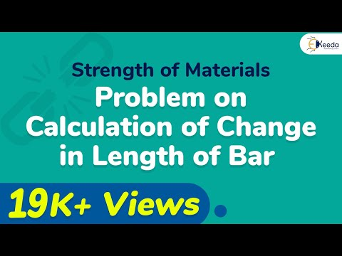 Problem on Calculation of Change in Length of Bar.