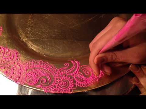 Mehndi/Henna Design on Charger | toralsuthar