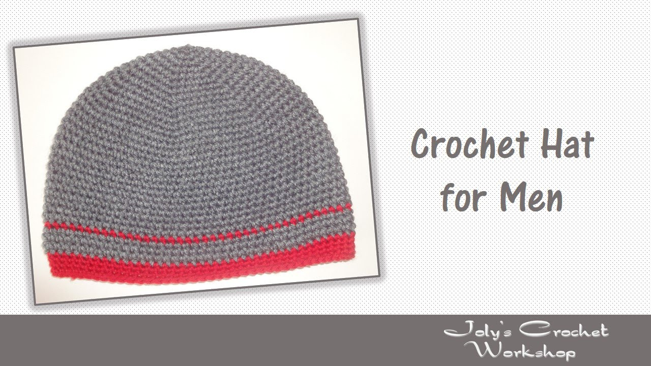 Crochet Hat for Men - YouTube
