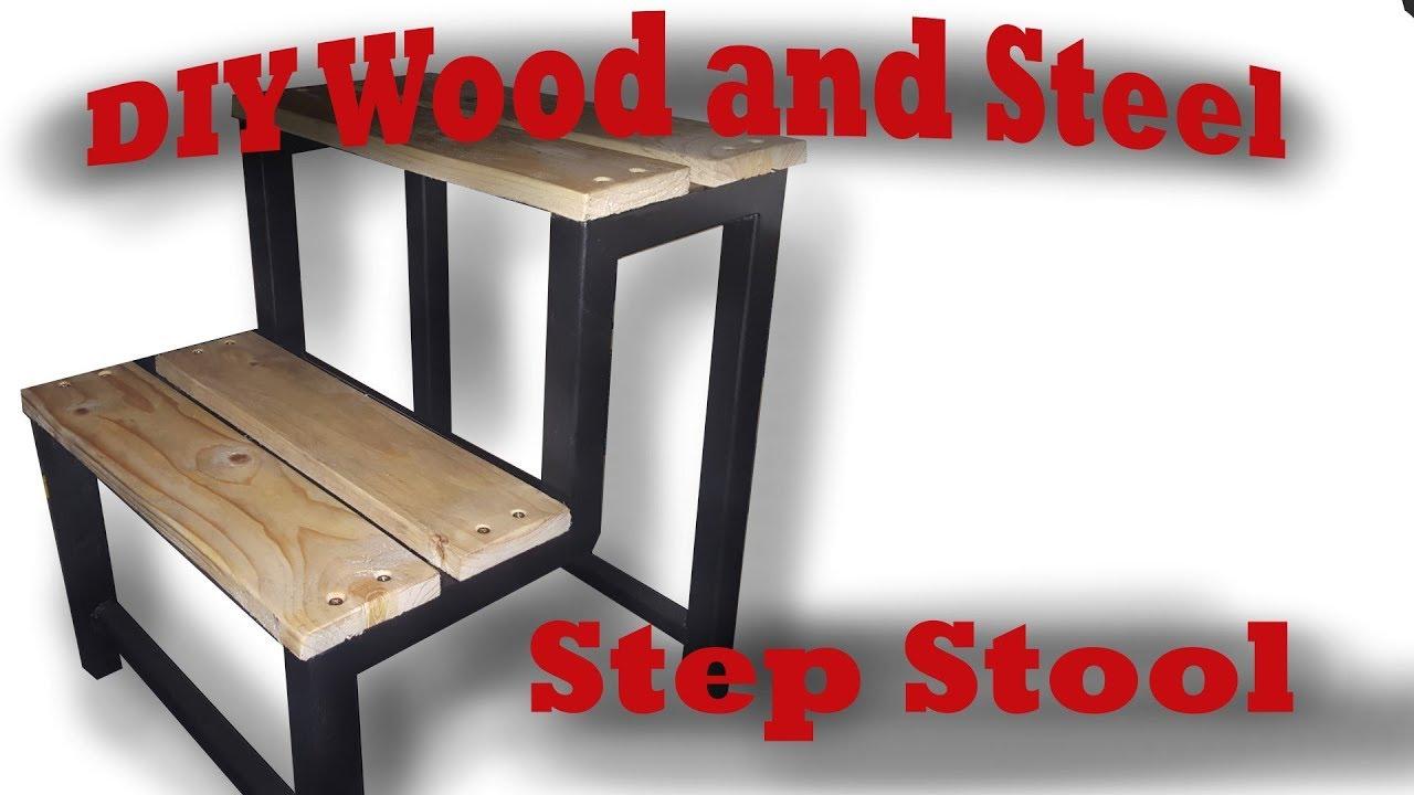 Easy DIY Wood and Steel Step Stool  sc 1 st  YouTube & Easy DIY Wood and Steel Step Stool - YouTube islam-shia.org