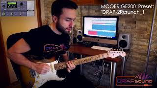 "Commercial Preset: ""DRAP-2Rcrunch_1"" for MOOER GE200 (isolated track)"