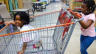 Toys AndFun Sister Doing Shopping At The Supermarket And Playing HIDE AND SEEK | Pretend Play