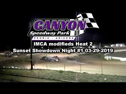 IMCA MODIFIED  heat 2 canyon speedway park 3-29-2019