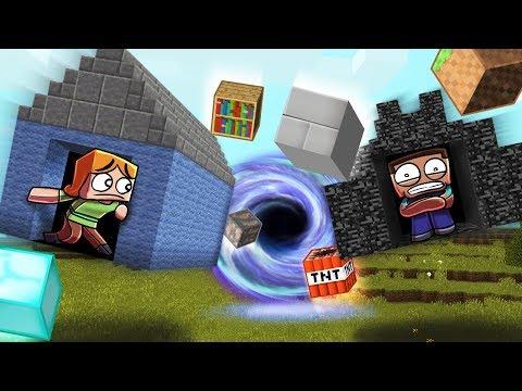 Minecraft   BLACK HOLE BASE CHALLENGE - Black Hole Destroys City!
