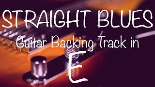 Straight Blues Guitar Backing Track in E