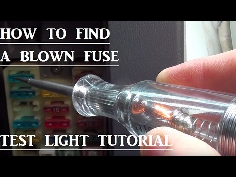 car fuse box blown how to find a blown fuse in your vehicle  test light basics  blown fuse in your vehicle