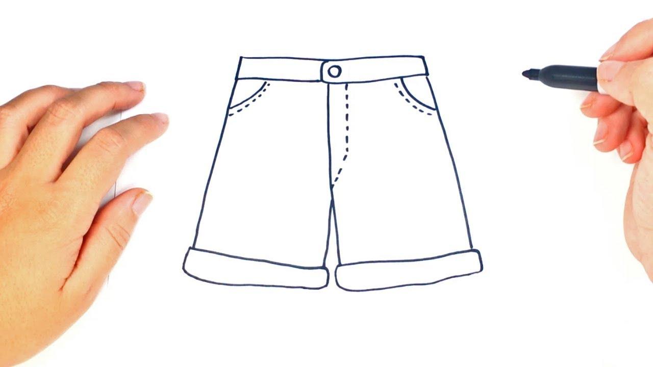 372e401cb Como dibujar unos Pantalones Cortos - YouTube