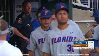 2018 College World Series 0-1 game: #1 Florida Gators vs. #13 Texas Longhorns
