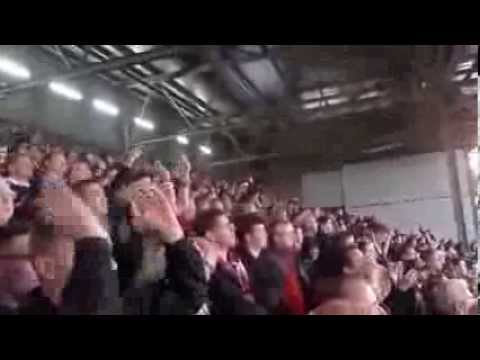 We fucking hate City chant Fulham - Manchester United away stand United fans singing. 2/11/2013