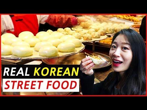 Korean Street Food at Traditional Market (Gwangmyeong Market)
