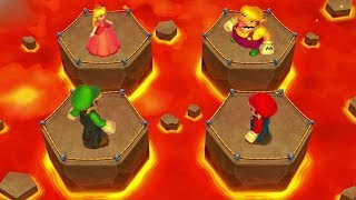 Mario Party: Island Tour Mini Games - Luigi Vs Mario Vs Peach Vs Wario (Master CPU)