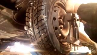 Сход-развал, СКО-1М регулировка углов установки колёс Рено Лагуна