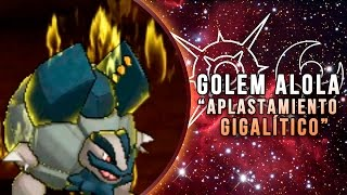 "POKÉMON SOL & LUNA COMBATES ONLINE: GOLEM ALOLA, ""APLASTAMIENTO GIGALÍTICO""!"