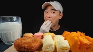 하얀풍차 빵 먹방 치즈바게트 화이트롤 에그타르트 고로케…