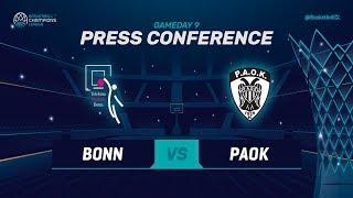 Telekom Baskets Bonn v PAOK - Press Conference - Basketball Champions League 2018-19