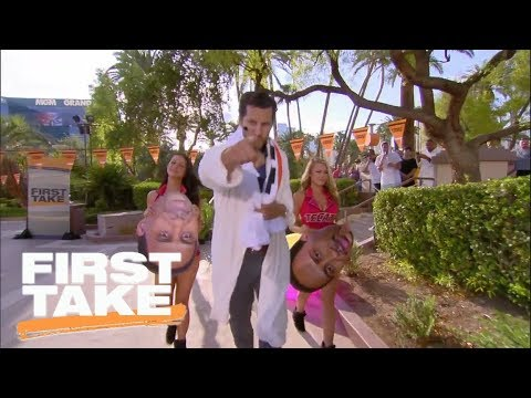 Will Cain's epic entrance into Las Vegas set | First Take | ESPN