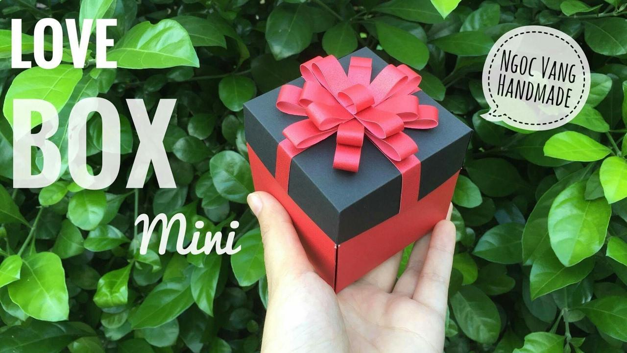 Hướng dẫn LOVE BOX tý hon (từ giấy A4) – Exploding box – NGOC VANG