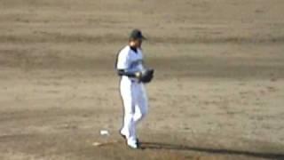 09年4月26日 日本ハムvs湘南@鎌ヶ谷 土屋投手投球練習