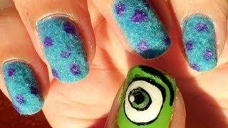 Uñas Monstruos S.a (pelusa) - Monsters Inc. Nails (flock/velvet)