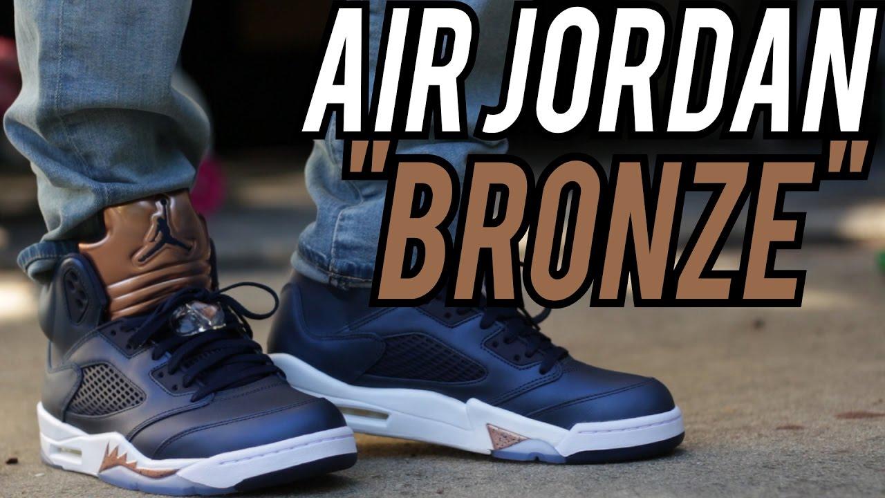 Air Jordan 5 Bronze W On Foot Review
