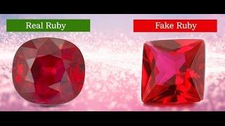 Steps To Identify Real Ruby Gemstone