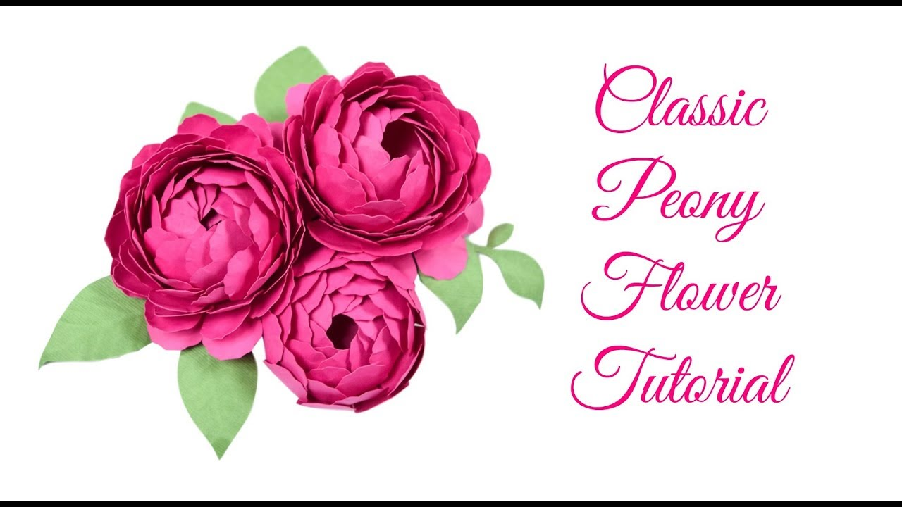 Step by step easy peony paper flower tutorial youtube step by step easy peony paper flower tutorial mightylinksfo