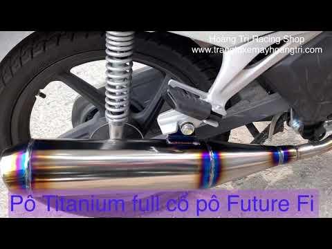 Full Pô-cổ Pô titanium xịn sò cho xe Future Fi