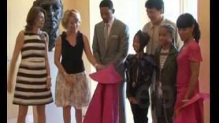 Jackie Chan y Will Smith con Esperanza Aguirre