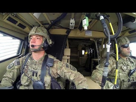 Military MRAP All Terrain Vehicle Combat Driver