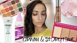 GRWM & STORYTIME! TRYING SOME BOMB NEW MAKEUP! AND A LOVE STORY!