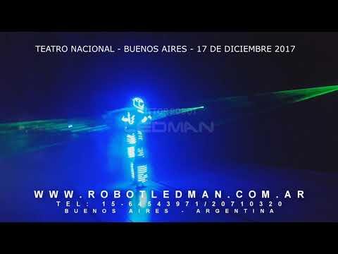 TEATRO NACIONAL ROBOT LED VICTOR LEDMAN EL ROBOT DE LA TELE