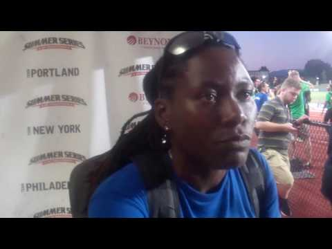Brittney Reese Talks About What She Thinks About in the Air During the Long Jump