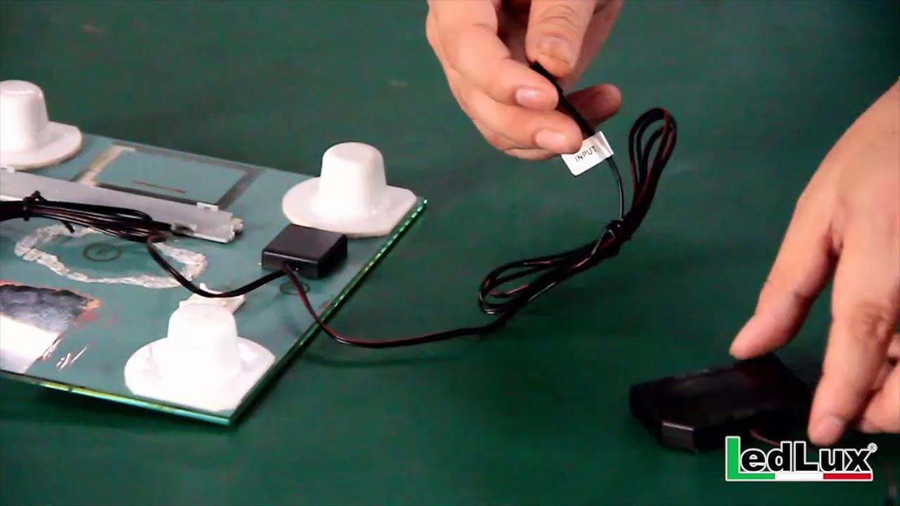 Interruttore Led Dimmer Touch Con Memoria Per Specchio Da Bagno 12V 24V 4A Con