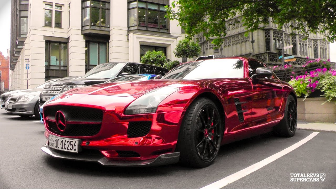 Red Chrome Arab Sls Amg Mercedes Youtube
