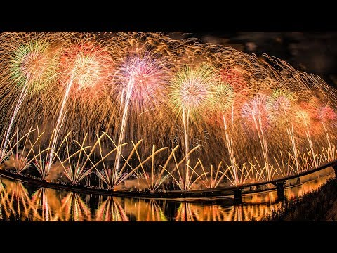 [4K] 長岡花火大会 2018 復興祈願花火 フェニックス - Nagaoka Fireworks Festival 2018 Phoenix -  (shot on Samsung NX1)