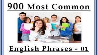Video 900 Most Common English Phrases - 01 - Basic English Lessons download MP3, 3GP, MP4, WEBM, AVI, FLV Februari 2018