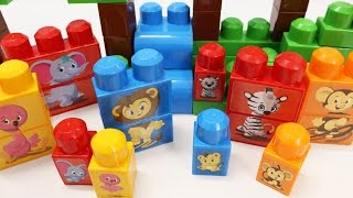 Building Blocks Toys for Children Learn to Build and Match Animal Families