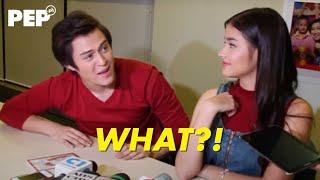 "Liza Soberano slaps Enrique Gil on the shoulder then regrets it: ""Maba-bash na naman ako."""