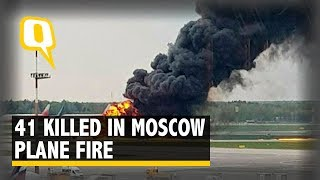 Russian Plane Bursts Into Flames During Emergency Landing, 41 Dead   The Quint